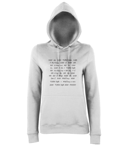 Pace Notes Hoodie in White