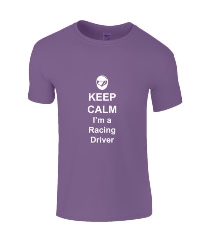 Keep Calm I'm a Racing Driver T-Shirt in Purple