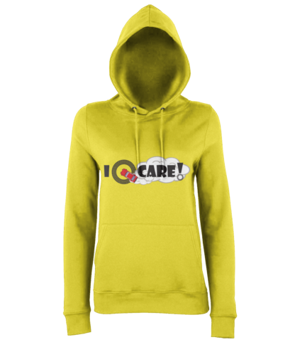 I Donut Care! Hoodie in Yellow