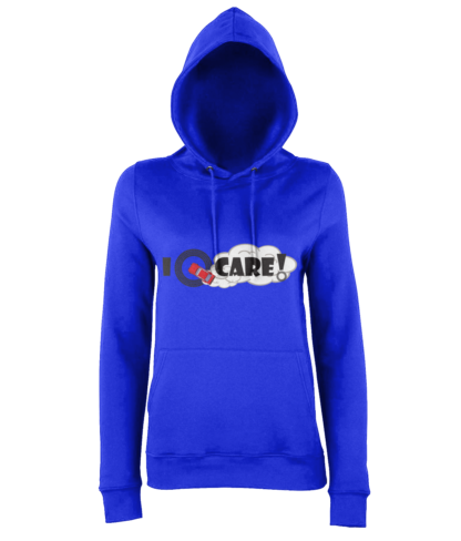 I Donut Care! Hoodie in Blue