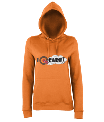 I Donut Care! Hoodie in Orange