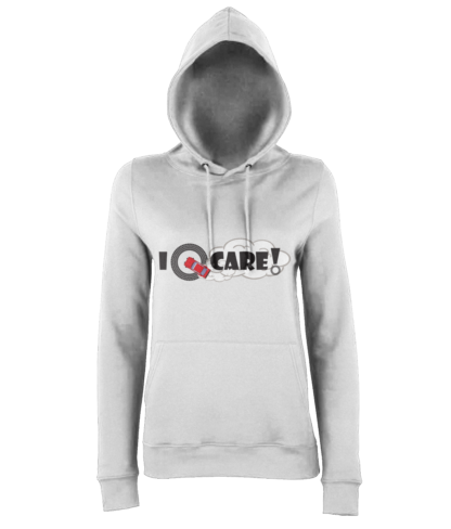 I Donut Care! Hoodie in White