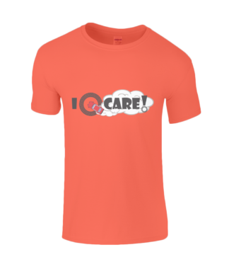 I Donut Care! T-Shirt in Orange