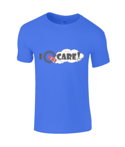 I Donut Care! T-Shirt in Blue