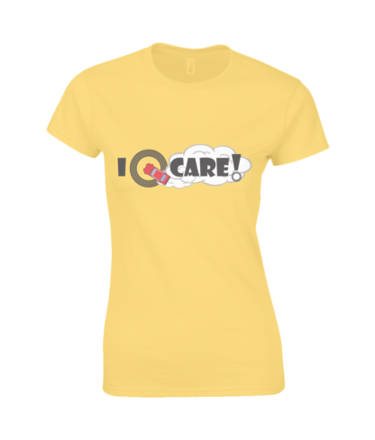 I Donut Care! T-Shirt in Yellow