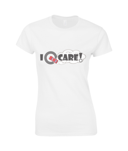 I Donut Care! T-Shirt in White