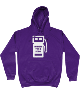 My Blood Type is Petrol Hoodie in Purple