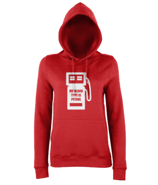 My Blood Type is Petrol Hoodie in Red