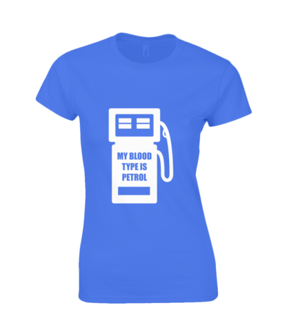 My Blood Type is Petrol T-Shirt in Blue