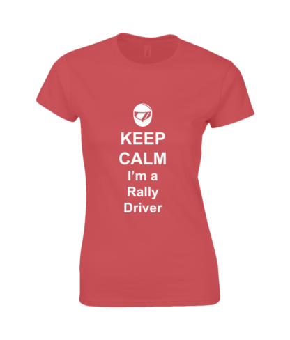 Keep Calm I'm a Rally Driver T-Shirt in Red