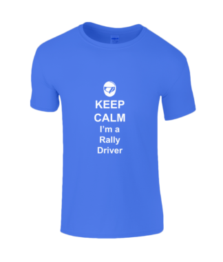 Keep Calm I'm a Rally Driver T-Shirt in Blue