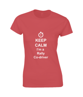 Keep Calm I'm a Rally Co-driver T-Shirt in Red