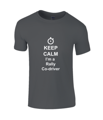 Keep Calm I'm a Rally Co-driver T-Shirt in Black