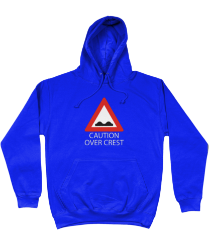 Caution Over Crest Hoodie in Blue