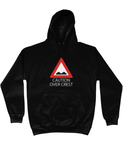 Caution Over Crest Hoodie in Black