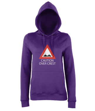 Caution Over Crest Hoodie in Purple