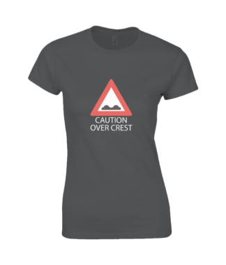 Caution Over Crest T-Shirt in Black