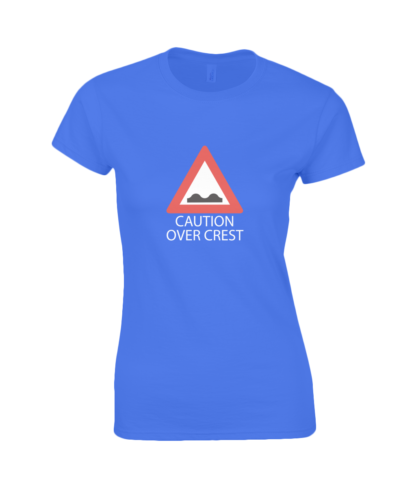 Caution Over Crest T-Shirt in Blue