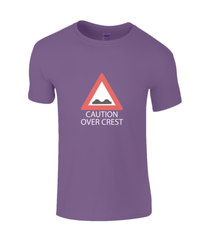 Caution Over Crest T-Shirt in Purple