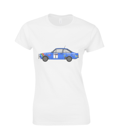 Ford Escort MK2 Eaton Yale T-Shirt in White
