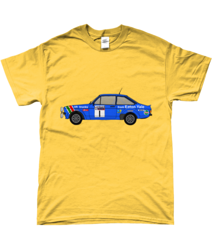 Ford Escort MK2 Eaton Yale T-Shirt in Yellow
