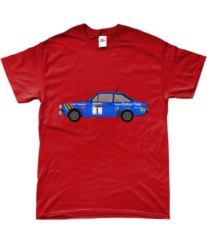 Ford Escort MK2 Eaton Yale T-Shirt in Red