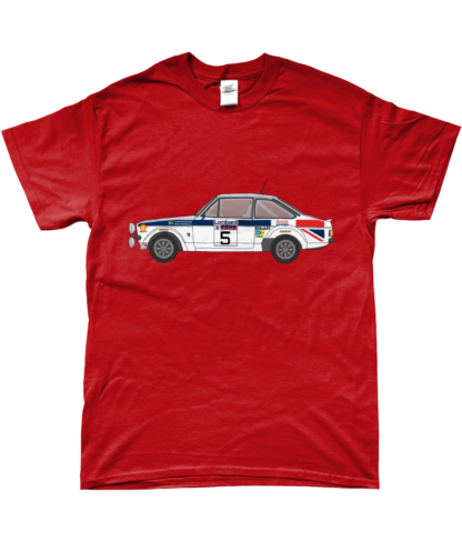 Ford Escort MK2 British Airways T-Shirt in Red