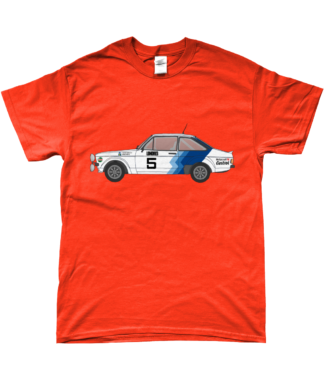 Ford Escort MK2 Hannu Mikkola T-Shirt in Orange
