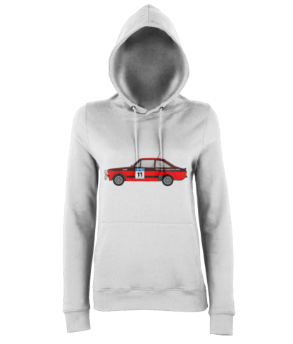Ford Escort MK2 Colin McRae Hoodie in White