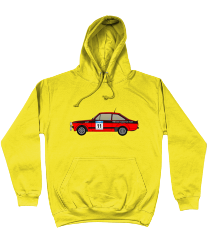 Ford Escort MK2 Colin McRae Hoodie in Yellow