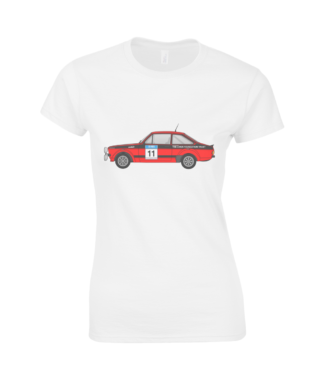 Ford Escort MK2 Colin McRae T-Shirt in White