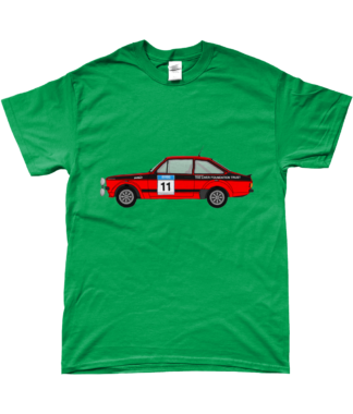 Ford Escort MK2 Colin McRae T-Shirt in Green