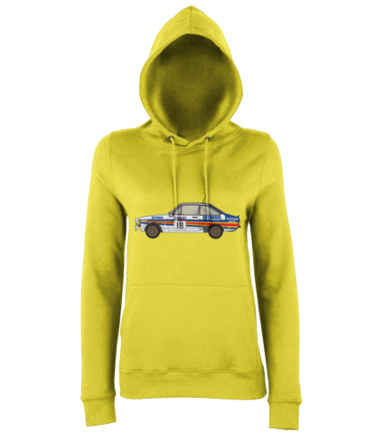 Ford Escort MK2 Rothmans Hoodie in Yellow