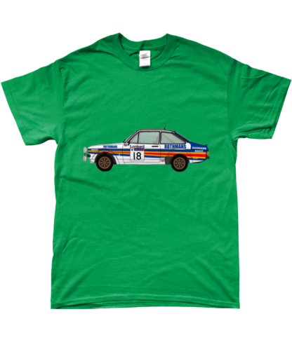 Ford Escort MK2 Rothmans T-Shirt in Green