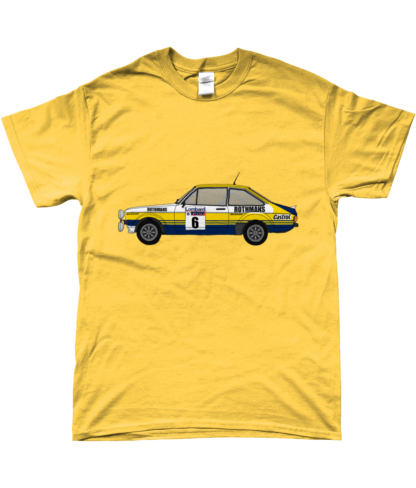 Ford Escort MK2 Rothmans T-Shirt in Yellow