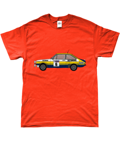 Ford Escort MK2 Rothmans T-Shirt in Orange