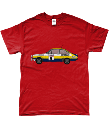 Ford Escort MK2 Rothmans T-Shirt in Red
