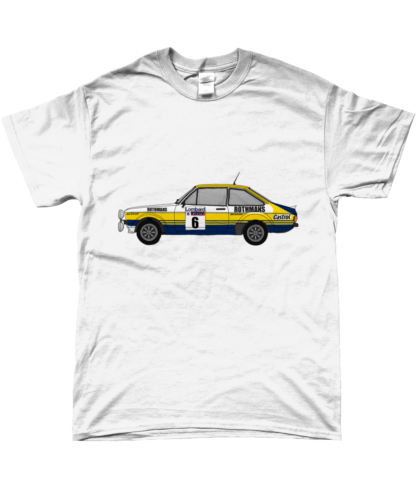 Ford Escort MK2 Rothmans T-Shirt in White