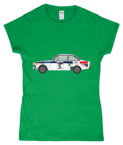 Ford Escort MK2 British Airways T-Shirt in Green