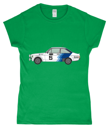 Ford Escort MK2 Hannu Mikkola T-Shirt in Green