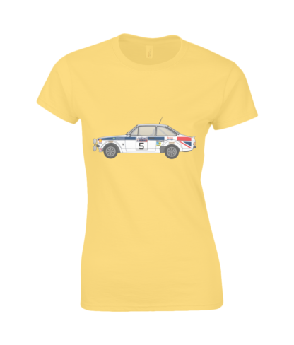 Ford Escort MK2 British Airways T-Shirt in Yellow
