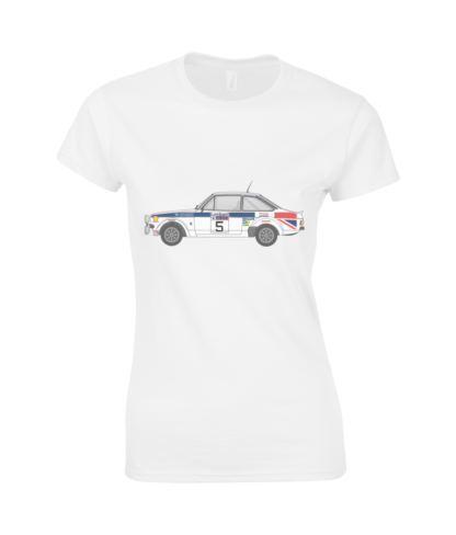 Ford Escort MK2 British Airways T-Shirt in White