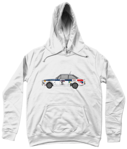 Ford Escort MK2 British Airways Hoodie in White