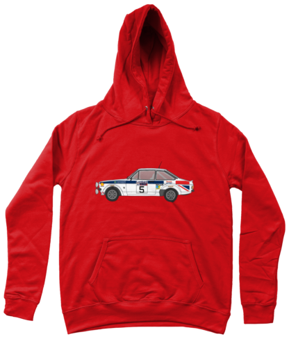 Ford Escort MK2 British Airways Hoodie in Red
