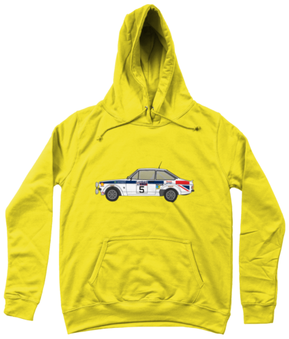 Ford Escort MK2 British Airways Hoodie in Yellow