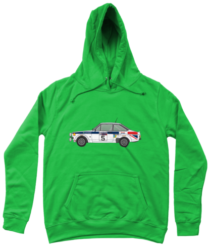 Ford Escort MK2 British Airways Hoodie in Green