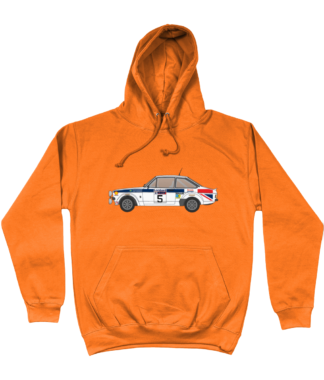 Ford Escort MK2 British Airways Hoodie in Orange