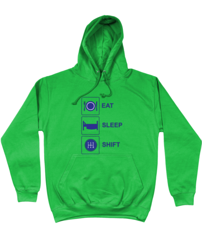 Eat Sleep Shift Hoodie in Green
