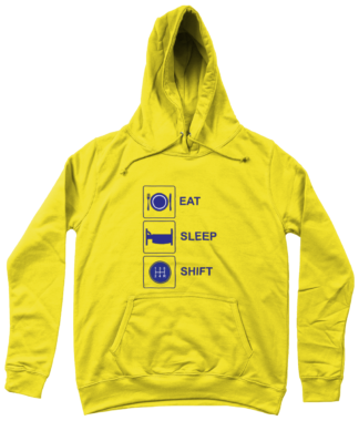 Eat Sleep Shift Hoodie in Yellow
