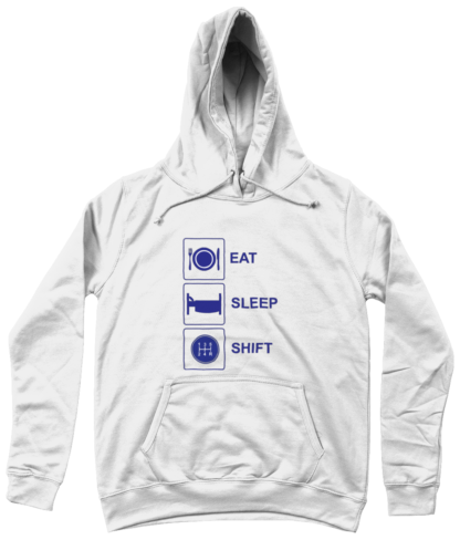 Eat Sleep Shift Hoodie in White